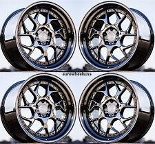 18x9.5 +35 Aodhan DS01 5x100 Black Vacuum Rims Fits Subaru Legacy Wrx Sti Brz