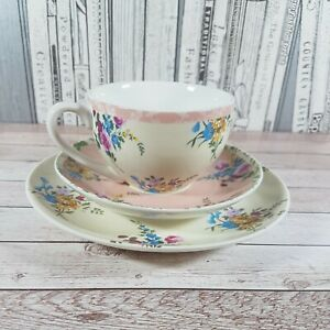 Victoria and Albert Museum Tea Cup & Saucer & Sideplate Trio Set Fine China