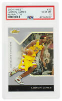 Lebron James 2004 Finest #23 Cavaliers Refractor Card PSA Gem Mint 10