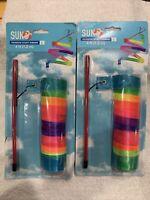 New Streamer STUNT Ribbon Rainbow Toy 4ft Whirl Twirl Swirl Dance Pride