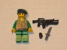 Lego Minifig WW2 Modern Warfare US Green Beret Soldier w/ accessories