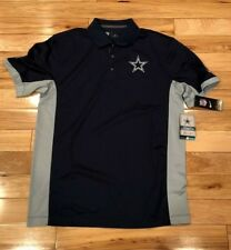 Nike Dallas Cowboys Team Issue Polo Navy Silver Men's LARGE NWT