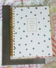 """FRINGE 977119 GOT THIS BLUE DOTS JOURNAL, Soft Cover 10 x 7.5"""" 192 LINED PAGES"""