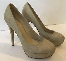 ALDO Beige Snake Textured Print Platform Stiletto Heels Women's Sz 8-8.5/39