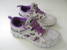 Girl's NIKE 'Free Run 2' Sz 6.5Y Runners Grey Purple ExCon | 3+ Extra 10% Off
