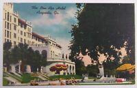 VTG Old Linen Era Postcard Colourpicture Outside Bon Air Hotel Augusta, Georgia
