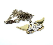 """Aerosmith  Rocker  A-Wing,s Charm Marvel Pendant necklace 19"""" Gold Filled Chain"""