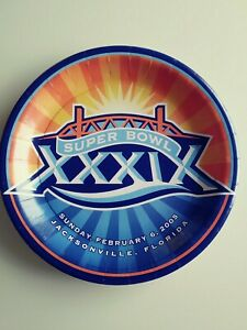 Super Bowl XXXIX Paper Plate Jacksonville, fl. 2005 (Patriots vs. Eagles)