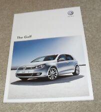 Volkswagen VW Golf Mk6 brochure 2010-R GTI GT TDI GTD 2.0 1.6 match 1.4 Sti