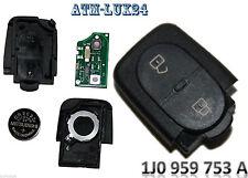 VW Seat Schlüssel Sendeeinheit 2 Tasten 1J0959753A 1J0 959 753 A 433,92Mhz A16
