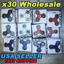 Wholesale Lot 30x Fidget Hand Tri Spinner Finger Spin Toys Kid ADHD EDC FOCUS