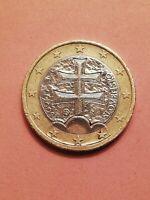 Moneta 1 euro rara SLOVACCHIA 2009 Con errore di conio