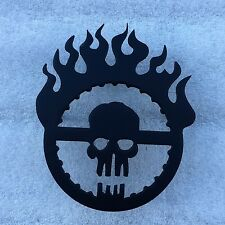 Grill Badge Emblem Billet Mad Max Logo Matte Black Powder Coated