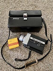 Nikon Super Zoom-8 MOVIE Camera w/ Pristine  Original Case + Unused Pkg of Film