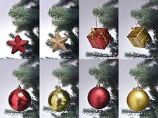 84 tlg. Christbaumkugeln Weihnachtskugeln Christbaumschmuck Set rot / gold