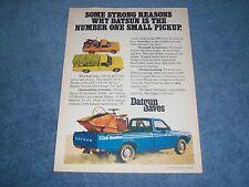 "1976 Datsun Li'l Hustler Vintage Pickup Ad ""Some Strong Reasons Why Datsun is #1"