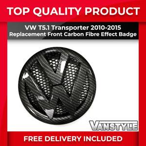 FOR VW TRANSPORTER T5.1 CARBON FIBRE EFFECT FRONT RADIATOR GRILLE BADGE 2010-15