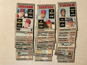 1970 Topps lot of 31 cards (Alston, Lefebvre, Brewer, Dean Chance, more)