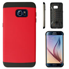 Buy 1 Get 2 - Slim Tough Case Hybrid Cover for Samsung Galaxy Core Prime S6 Edge Plus Ruby Red