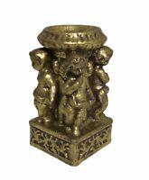 "Vintage Cherub Angel Pillar Decorative Candle Holder 6.75""X3.5"""