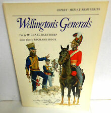 BOOK Osprey MAA 84 Wellington's Generals by Barthorp 1978 1st Ed VGC