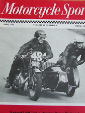 MOTORCYCLE SPORT APR 1975 KAWASAKI 400 TEST MAXTON RACERS EVALUATED CLOTHING