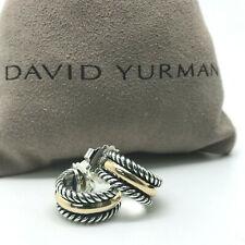 DAVID YURMAN 16mm Small Hoop Earrings 14k Gold & Sterling Silver