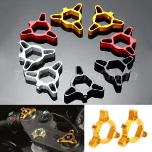 CNC Aluminum Motorcycle Hexagon Fork Preload Adjusters Kit 19mm for Kawasaki