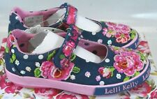 Girls Lelli Kelly Freya Blue Beaded Mary Jane LK4102 US10 - UK 28 Retail $109