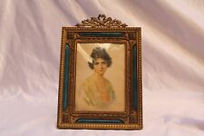 Magnificent 1900 French Enameled Bronze Picture Frame Signed