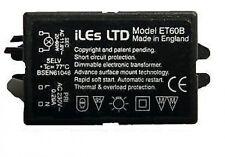 Black 12V Electronic Dimmable Transformer Low Voltage Halogen Light 20-60 Watt