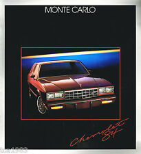 Lrg. 1984 Chevy MONTE CARLO Brochure / Catalog: SS, Super Sport, CL, Coupe