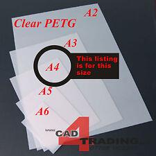 0.7mm Clear Thin PETG Dolls House Glazing Plastic Art Craft Hobby A4 Sheet Size