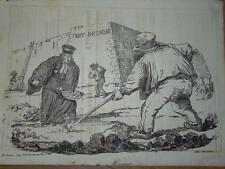 RARE Le CHARIVARI CARICATURE POLITIQUE GRANDVILLE 1835 MACON LOUIS PHILIPPE