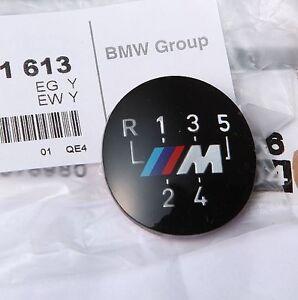 BMW Genuine M 5-Speed Gear Knob Badge Emblem E60 E39 E46 E36 E34 E30 25111221613