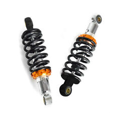 2 Pc 230mm 9'' Motorcycle Rear Shock Absorber  Suspension Spring Scooter Black
