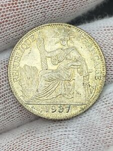 1937 French Indochina 20 Centimes