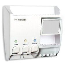 Dispenser Shampoo Soap Conditioner Lotion Mirror Shower Bathroom Wall Mount Bath