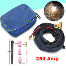 1 Set TIG Welding Torch Gas Lens Kit +4M 250AMP Air Water-Cooled Hose For WP20