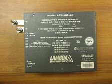 Lambda Regulated Power Supply Model LFS-42-48 ..  WF-37