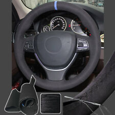 Steering Wheel Cover Suede Sew Wrap for BMW 5 6 Series 550i 535i 5GT 11-16 14 15