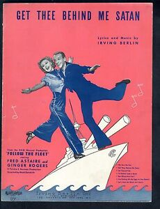 Get Thee Behind Me Satan 1936 Follow The Fleet Astaire Rogers Sheet Music
