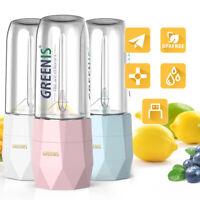 Greenis Portable Blender Mini Juicer Bottle Smoothie Fruit Maker Ice Crush Shake