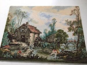 """Original Wiehler Gobelin nach Francois Boucher """"Wassermühle"""""""