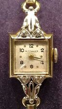Wittnauer ladies 14k gold Geneva  Ross diamond watch