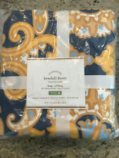 Pottery Barn Kendall Scarf Sateen King Duvet Cover NEW