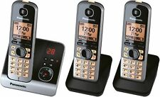 Panasonic KX-TG6723GB Trío Teléfono Inalámbrico Con 2 Adicional (4,6