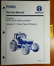 Ford New Holland 8670 8770 8870 8970 Tractor PTO Section 7 Service Manual 10/94