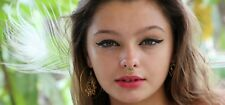 New 18g Brass Septum Tribal Nose Ring Pierced Jewelry Piercing Tragus 1mm Cliker