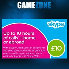 £10 Skype Credit Gift Card - UK £10 GBP Digital Card - United Kingdom